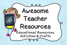 Awesome Teacher Resources / This is a collaborative board to share the amazing resources and ideas that we have for the classroom.  If you are interested in joining, please contact karenemorris05@yahoo.com