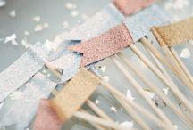 свадьба с блестящим декором / glitter weddings