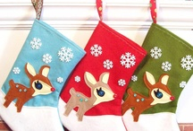 Stocking Ideas for Hutch / Searching for the perfect inspiration to create a stocking for my son. Looking for woodland creatures, modern colors and patterns, felt or knitted stocking shapes.