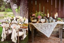 Shabby chic wedding inspiration - creations, colors and love