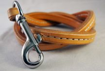 Leather Dog Leash / Leather dog leash Custom