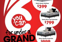FEBRUARY 2016 / YOU CAN FOR UNDER A GRAND!!! At beds R Us-Selected Sleepyhead on Sale NOW. Selected stores only. T's & C's apply - see website for details. www.bedsrus.com.au