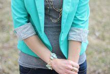 Blazer: Green/Navy Blue
