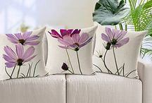 cojines con flores grandes