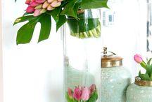 Bougeoir  et vase