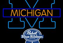 Pabst with University Neon Signs