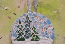Christmas mosaic ornaments