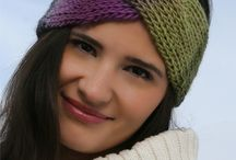 Loom knitted headband