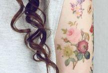 vintage flower tattoo