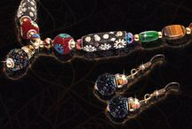 Rajasthani multi-color pearl work and earrings set describes the beauty of Rajasthan
