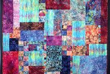 Carolyn's Inspiration Board / Quilting is all about the inspiration and color.  Fabric is my paint and the sandwich the canvas.