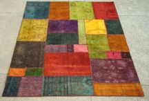 Pakistan Loaded rugs / Made in Pakistan from old pieces of damaged rugs and then dip dyed to give a new life to these old rugs