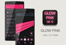 Glow Pink CM13 CM12/12.1 Theme v1.4