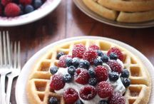 Waffles and Pancakes / #delicious #yummy #pancakes #waffles