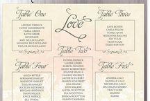 wedding escort table signs