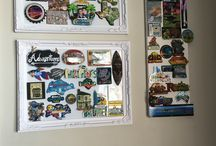 Fridge magnet collection frame ideas / Just wanna share my DIY fridge magnet collection display. My 2 year old keeps on destroying our fridge magnets so I decided to do this...