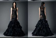 Black weding dress