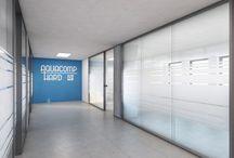 Návrh komerčního interiéru s prosklenými příčkami /  Při řešení dispozic komerčních prostor ve velkých administrativních objektech je ideální variantou použití prosklených příček.