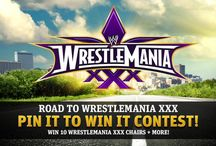 WWE WrestleMania XXX Pin it to Win it Contest / For a chance to win a WWE WrestleMania XXX chair or t-shirt visit: http://wwe.me/tkm9p!   Plus, don't forget to tune in for WrestleMania XXX on April 6th at 8/7 CT, exclusively on PPV or WWE Network.