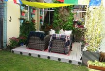 Garden decking and Colour / A great weekend project that has transformed our back yard.