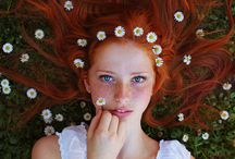 girl with flowers portraits