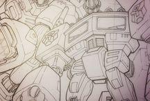 Commission Inks / Commission work I've done.