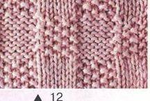 pletené vzory a popisy