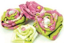 цветы и ткань
