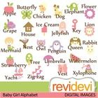 TpT Awesome Alphabet / Alphabet clip art, printable, poster, flash card, and more! For teachers and classroom projects.