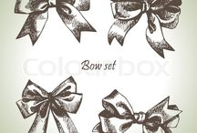 Vintage Ribbon Illustrations of Sorts