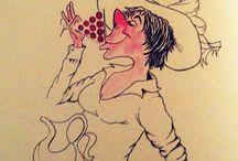 Cin cin Signora! / I cin cin del buongiorno della Douja d'Or 2014 #wine #humor #comics #douja2014 / by Douja d'Or