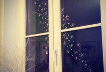Fensterdeko zu Weihnachten