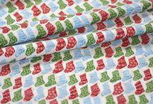 Christmas Fabrics and Ribbons
