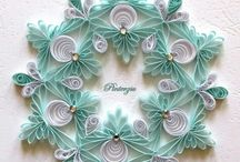 Quilling snowflakes & X-mas