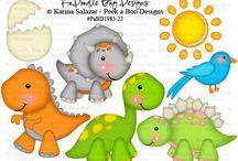 Dinosauri feltro