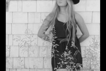 Cowgirl Princess / Black and white photo