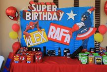 Rafita & Alex Super Héroes Birthday!!! / Gracias a todas las ideas que podemos encontrar en línea y pinterest logre aterrizar muchas de las que traía en mi mente, creo me falto tiempo pero con 3 niños en casa y uno de ellos bebe fue un poco difícil, aunque satisfecha con lo que se logró gracias a un excelente equipo de trabajo espero les gusté :)