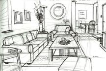 Drawing Interior & Furniture