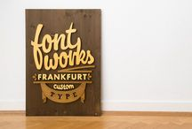 Lumber Type / Combining typography with wood as a tangible medium produces high-quality design objects with impressive material aesthetics. A great collaboration between Jens Westerwald and Paul Valentiner.