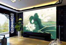 Papier peint tapisserie lotus / Lotus