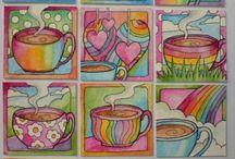 hrnečky pro radost, kávy v nich dost . . .