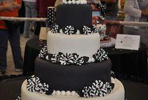 tortas en blanco y negro