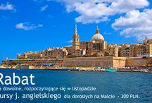 Kurs jezykowy - Malta / OKAZJA!!!! Pan Prezydent nie chce (nie może), Pani premier nie chce (nie może), więc Ty pojedź!!!  KURSY ROZPOCZYNAJĄCE SIĘ W LISTOPADZIE OBJĘTE SĄ PROMOCJĄ - 300 PLN