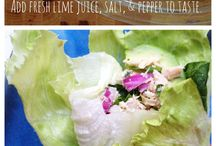 Delicious tuna recipe (with cilantro and lime) no mayonnaise needed!