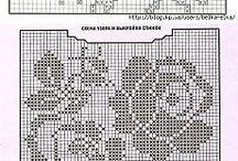 Филейная сетка. Sirloin grid. Crochet. Scheme. Pattern