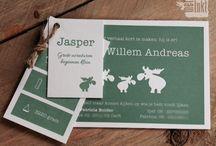 Letterpress geboortekaartjes - baby announcement cards / Met INKT - Our collection letterpress baby cards - letterpress geboortekaartjes