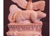 Zuni six direction Fetish carvings