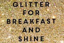 WORDS COATED WITH GLITTER