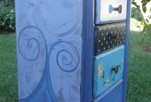 Repurposed Painted and Art painting Furniture
