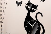 Cat Wall Clocks / Cat Wall Clocks purrfect for your Cat loving home with modern contemporary and funny design to match your modern and funny personality .